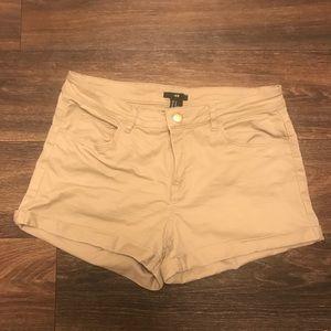 H&M High Waisted Khaki Shorts